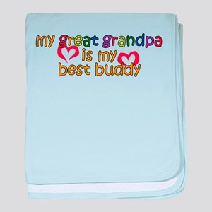 Great Grandpa is My Best Budd baby blanket
